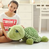 Wholesale Stuffed Turtles Big Eyes - Wholesale- Free shipping big eye tortoise plush toy Turtle soft stuffed toy whole sale and retails best gifts for girls Children'S