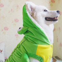 Wholesale Crocodile Jackets - 2017 Large Dog Costumes Hot Cospaly Suit The Crocodile style for Pet XMAS Gift Party Clothing Fashion Puppy Poodle Apparel for Free shipping