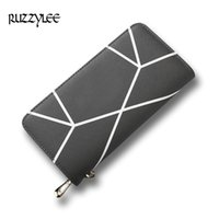 Wholesale New Design Leather Key Chain - New Wallet Woman Long Hasp Coin Purse Women Luxury Leather Female Wallets Striped Design Brand Lady Purses Clutch Card Holder