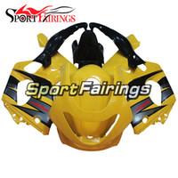 siyah sarı motosiklet fuar toptan satış-2007 Komple Motosiklet Takımı ABS Fairing Plastik Kapaklar - Yamaha YZF600R Thundercat 1997 için Sarı Siyah Yeni Kalafatlama