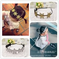 Wholesale Snow Korean Fashion - New Fashion Korean Accessories New arrived sequin gold snow star Girls Headband baby Hair Things hair band kids adult hair accessory A180