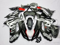 Wholesale Kawasaki Ninja 636 Fairing Parts - HOT SALE! New ABS Bodywork set fairing kit Fit for Kawasaki ZX6R fairings 2007 2008 Ninja 636 ZX-6R 07 08 Plastic parts black white and red