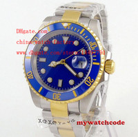 Wholesale Gold Mens Divers Watch - Luxury High Quality Sapphire Blue Luminescent Watch 40mm Ceramic Two Tone Gold 116613 116613LB Asia 2813 Movement Automatic Mens Watches