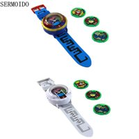 Wholesale Projection Lights For Kids - Wholesale- 2017 Yo-Kai Watch Little Poni Toys YoKai Watch For Children Projection Watch Student Christmas Gift Baymax Kid Projection Toy A1