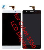 Barato Telemóvel De Tela Lcd Grossista-Atacado- Cubot S550 LCD Display + Touch Screen 1280x720 100% Original Digitizer Assembly Replacement Repair Accessories For Cell Phone