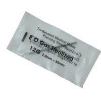 Wholesale Disposable Sterile Ear Piercing - 12 Gauge 100Pcs Tattoo Piercing Needles Sterile Disposable Body Piercing Needles 12G For Ear Nose Navel Nipple Free Shipping