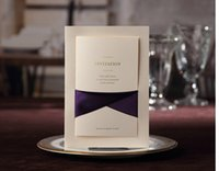 Wholesale Customize Purple Invitation Cards - Wholesale- 2016 new Bowknot Customized wedding invitation card,elegant marriage invitations with purple Ribbon envelopes ,50PCS lot,