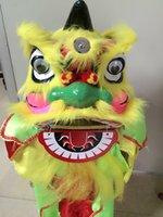leão brinquedo de natal venda por atacado-Folclórica chinesa tradicional artesanato crianças leão dança little lion crianças brinquedos desempenho adereços presentes de natal do dia das bruxas 025