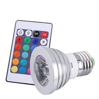 Wholesale 4w Rgb E27 Remote - LED Bulb E27 RGB Stage 16 Colorful Change Lamp spotlight 110v 127V 220v Home Party Wedding with IR Remote