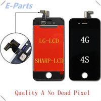 Wholesale Iphone 4s Cdma Lcd - For iPhone 4 4s CDMA LCD Display Touch Digitizer with Strong Frame Full Assembly Replacement (100% Quality AAA+) DHL Fast shipping