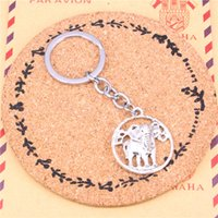 Автомобиль Key Ring Pendant Silver Color Metal Key Chains Accessory Wholesale Бесплатная доставка, Vintage circle слон Keychain