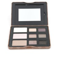 Wholesale Eyeshadow Smoked - Makeup Palette Cosmetics Set New The Shade For Eyes 1pcs 9 Color Smoked Palette Eyeshadow Palette Brand Makeup Kit Eye shadow