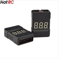 Wholesale Alarm Low Battery - HotRc BX100 1-8S Lipo Battery Voltage Tester  Low Voltage Buzzer Alarm  Battery Voltage Checker with Dual Speakers