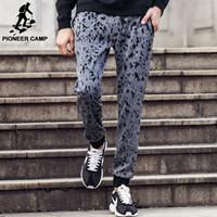 Wholesale Korean Pants For Mens - Wholesale- Pioneer Camp men 2017 korean Hip Hop Fashion Pants cool Mens Clothing Men's jeans male joggers harem pants for men xxxl 622130