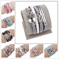 Wholesale India Charms - Fashion Link chain bracelets jewelry for women boutique India bohemian style Infinity butterfly Love charm bracelet wholesale