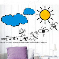 Wholesale Adhesive Decorative Wallpaper - Kindergarten Wall Stickers Room Bedroom Art Decal Removeable Wallpaper Mural Sticker for Kids Girls Living Room Adhesive Decorative