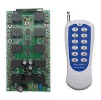 receptor de canal rf al por mayor-Al por mayor-DC 12V 10A 10 canales RF Control remoto inalámbrico sistema 1 Receptor +1 Transmisor Código de aprendizaje individual