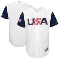Wholesale Italy Customs - Custom youth women any name any number USA Venezuela Canada Dominican Cuba Italy Puerto Mexico 2017 World Baseball ClassicTeam Jersey