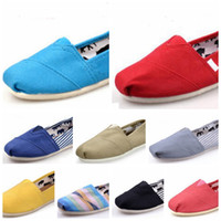Wholesale Canvas Fabric Colors Wholesale - Promotion Factory Price Multi Colors New Unisex Classic Fashion Flats Sneakers Women and Men Canvas Shoes loafers casual shoes Espadrilles