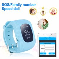 Wholesale android agps - kids smart watch kids safety tracker Q50 6 colors LBS + AGPS need SIM card for Android and IOS