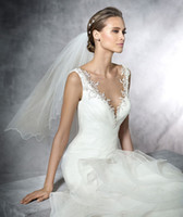 Wholesale Organza Weding - 2016 wedding dresses Strapless 3D-Floral Appliques Real Photos Gorgeous A-line Ruffles Mermaid Wedding Dresses Tiered Mermaid Weding Dresses