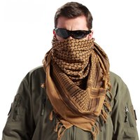 Wholesale thin scarf men - Arab Scarves Men Winter Windproof Scarf 100% Cotton thin Muslim Hijab Shemagh Tactical Desert Arabic Scarf