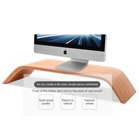 Wholesale New Apple Imac - DHL Ship New Walnut Real Wood Stand Desktop Holder Bracket Birch for iMac Original SAMDI Holder for Apple PC Monitor