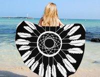 Wholesale Towels Personalized Wholesale - Personalized beach towel.The new super fine fiber circular beach towel printed beach towel wholesale custom design manufacturer