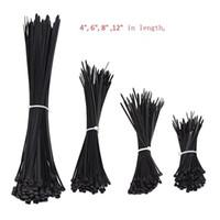naylon kravat kilitleri toptan satış-1000 adet Siyah Naylon Kendinden Kilitleme Ağır Standart Kablo Sarma Zip Kravatlar sapanlar Tel Kablo Kravat Kiti Ev ve Sanayi için Bağları Tutturmak