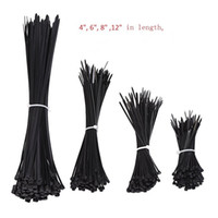 Wholesale Strap Home - 1000pcs Black Nylon Self-Locking Heavy Duty Standard Cable Wrap Zip Ties Straps Wire Cable Tie Kit Fasten Ties for home and Industry