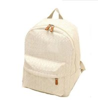 Wholesale Candy Color Vintage Backpack - Wholesale- 2017 Women's backpack preppy style vintage lace backpack candy color canvas school bag