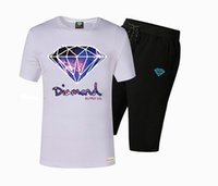Wholesale diamond supply shirts free shipping - 36 Free shipping s-5xl New Arrival BBC Diamond Supply suit Mens t shirts tees colorful letter Tracksuits