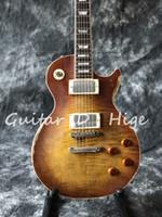 corpos de violão envelhecido venda por atacado-Handwork Heavy Aged Relic Guitarra Elétrica com uma peça corpo e pescoço em cor sunburst, peças de guitarra envelhecido em estoque