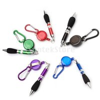 Vente en gros - 5pcs Retractable Badge Reel Golf Scoring Pen Belt Clip avec Mousqueton Snap Hook