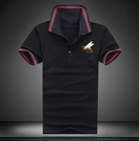 Wholesale Colors Casual Shirts For Men - 2017 Fashion Brand Men Sold Colors T shirt Men's Cotton Shorts Sleeve Lapel Summer male Tops Tees Casual Sharked T-shirt For Man