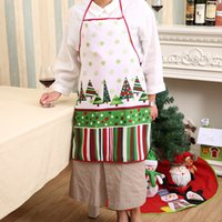 Wholesale Cooking Ornament - 3D Funny Apron Christmas Aprons Adult Santa Claus Aprons Women And men Dinner Party Cooking Apron Cozinha Tablier xmas gift 0708098