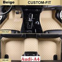 Wholesale Carpet Set Audi - SCOT All Weather Leather Car Floor Mats for Audi A4 Waterproof Anti-slip 3D Front & Rear Carpet Custom-Fit Right-Hand-Driver-Model