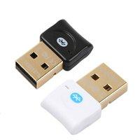 dongle do modo duplo do bluetooth venda por atacado-Mini USB Bluetooth V4.0 Dual Mode Dongle Sem Fio CSR 4.0 Transmissor De Áudio Adaptador Para Win7 / 8 / XP / 10 e Carro