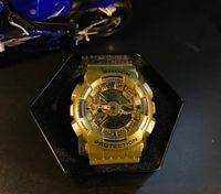Wholesale Mens G Shock Watch Red - Great quality mens G sports watch ga110 climbing LED watches 110 waterproof SHOCK Auto Light wristwatch
