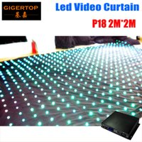 Wholesale mode video for sale - Fire proof Pitch M M LED Star Curtain On Off Line Mode Controller LED Video Curtain For DJ Wedding Backdrops