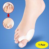 Wholesale Stretcher Silicone - DHL Free shipping Toe Hallux Valgus Corrector Silicone Gel Spreader Feet Care Toe separator Bunion Guard Toe Stretcher Straightener
