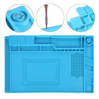 Wholesale Magnetic Screws - YVBOX 17.7 x 11.8 inch Magnetic Screws Repair Silicone Pad Heat Insulation Mat Maintenance Platform BGA Soldering Repair Station