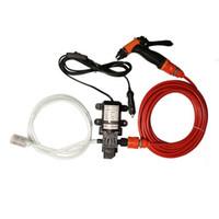 ingrosso lavaggio auto pompa-All'ingrosso- 70W 130PSI 6L / Min pompa ad alta pressione per auto elettrica lavaggio pompa DC 12V Clean Set