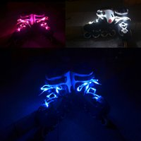 30pcs (15 paires) Waterproof Luminous LED Shoelaces Fashion Light Up Casual Sneaker Chaussures Laces Disco Party Night Glowing Chaussure Cordes