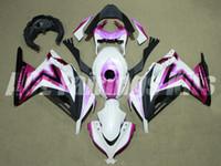 Wholesale Pink Kawasaki Fairing Kits - New ABS Injection Fairing kits 100% fit For Kawasaki Ninja300 13 14 15 16 Ninja 300R EX300 2013 2014 2015 2016 pink white black+Tank cover