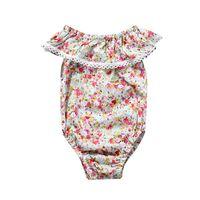 bebek tek parça pamuk takımları toptan satış-Bebek Tulum Yaz Bebek Yürüyor Onesies Saf Pamuk Çiçek Tulum Yenidoğan Bebek Kız Tırmanma Giysileri bebeğin One Piece Suits Babysuits