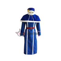 Wholesale Blue Tail Cosplay - fairy tail Juvia Lockser Cosplay Costume blue Custom Made