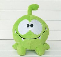 "Wholesale Om Nom Plush Toy - kawaii 7""20cm om nom frog plush toys cut the rope Soft rubber cut the rope figure classic toys game lovely gift for kids"