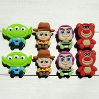 Wholesale Best Story - 40pcs Toy Story PVC Shoe Charms Ornaments Buckles Fit for Shoes & Bracelets ,Charm Decoration,Shoe Accessories Best Party Gift Free Shipping