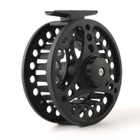 Wholesale Die Fly Fishing - 2+1BB Ball Bearings Fly Reel Weight 5 6 7 8 WT Aluminum Alloy Spool Die Casting Fly Fishing Wheel Left Right Handed Black